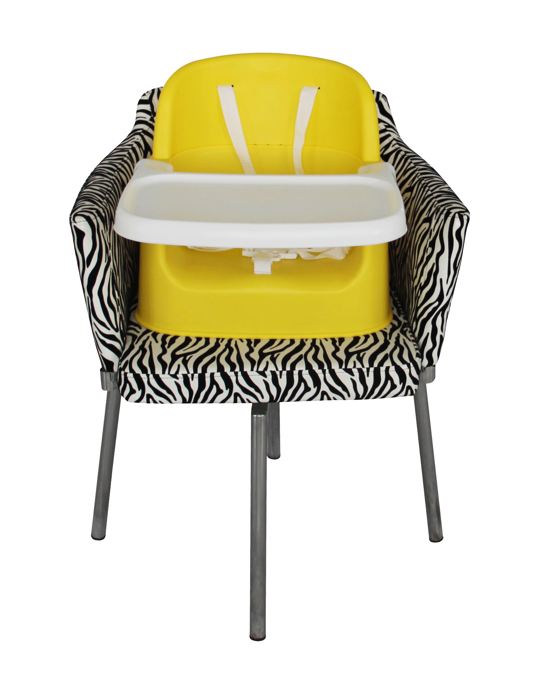 High Chair and Booster Seat Yellow Baby Safe