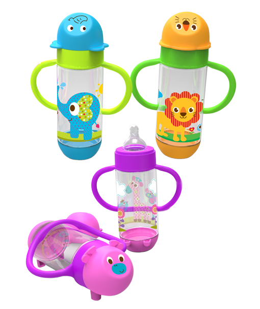 Wide Neck Feeding Bottle with Handle 250 ml. AP 004. BabySafe menghadirkan koleksi botol susu ...