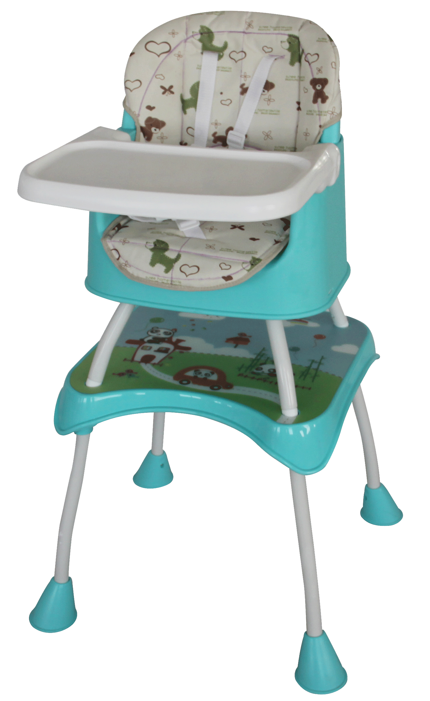 High Chair and Booster Seat Green Baby Safe
