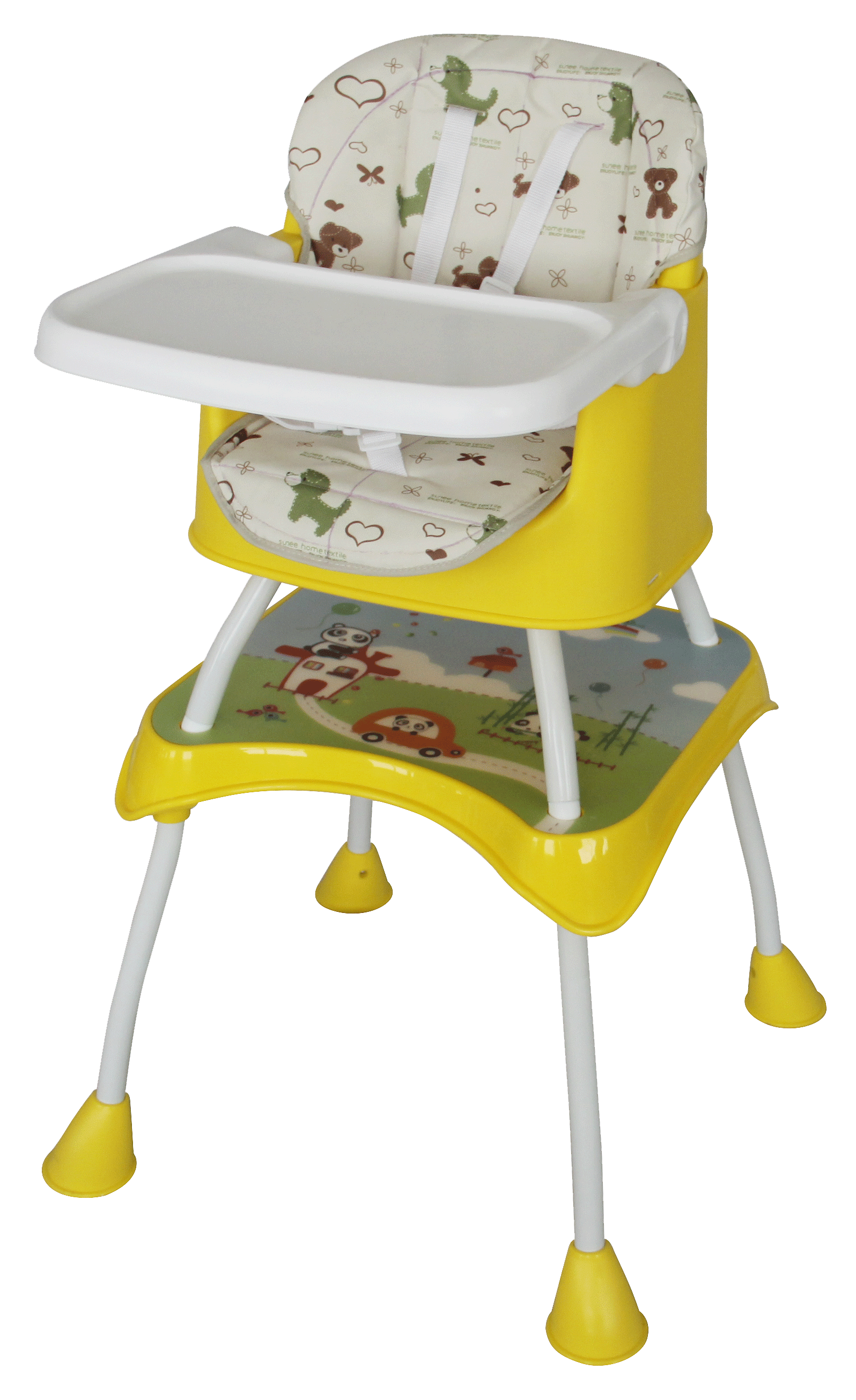 High Chair And Booster Seat Yellow